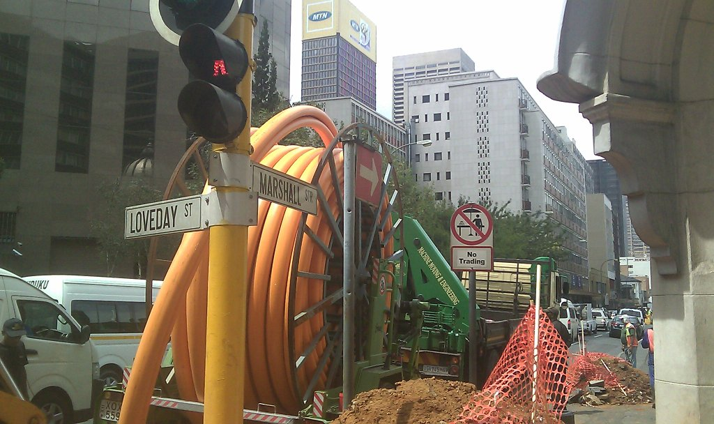 Gas pipe line renovation - Infrastructure upgrade Egoli Gas Johannesburg CBD 1